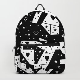 Black and White Popart by Nico Bielow Backpack