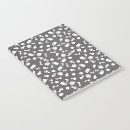 The Little Farm Animals, white on grey Notebook