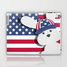 INDEPENDENCE DAY BUNNY Laptop & iPad Skin