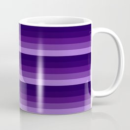 purple lavender indigo stripes Coffee Mug