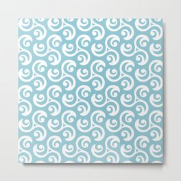 Abstract background with Celtic symbols with curved lines Metal Print