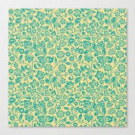 Flora Pattern Twelve Canvas Print