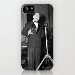 Huey Long Speaking Into Microphone - 1935 iPhone Case