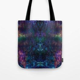 Violet snake skin pattern Tote Bag