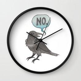 The No Crow Wall Clock