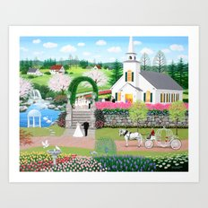 A Walk with My Father Art Print