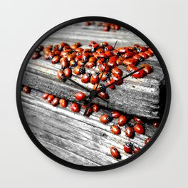 When the Ladybugs were Everywhere Wall Clock