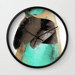 Luchador Bear Wall Clock
