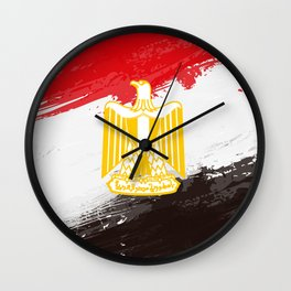 Egypt's Flag Design Wall Clock