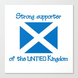 Supporter of the UNTIED Kingdom Canvas Print