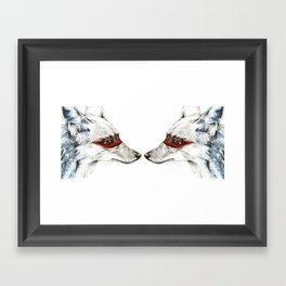 Twin Coyotes Framed Art Print