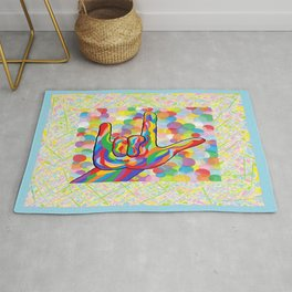ASL I Love You for Baby Boy Nursery Rug