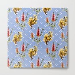Cute Australian native themes floral print Metal Print