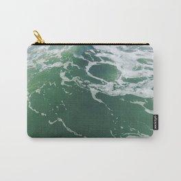 Sea Foam Green Ocean Wave Photograph Carry-All Pouch