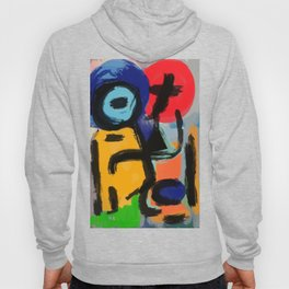 Abstract Expressionist Composition Hoody