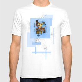 Blades Of Grass And Leaves In The Blue Sky T-shirt