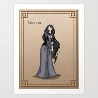 valar morghulis Art Prints featuring Nienna by wolfanita
