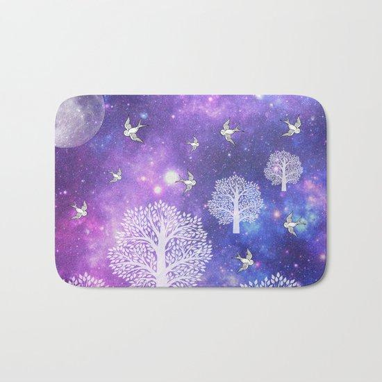Space Trees Bath Mat