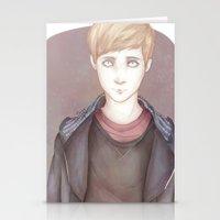 kieren walker Stationery Cards featuring In The Flesh - Kieren Walker by SerenaArtworks