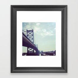 Philadelphia Ben Franklin Bridge Framed Art Print