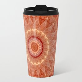 Mandala evening sun Travel Mug