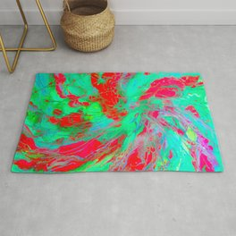 Red And Green Spin Rug