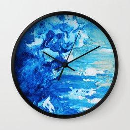Beach Waves Crashing Wall Clock