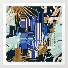 Glitche tropical Art Print