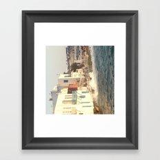 Mykonos sunset Framed Art Print