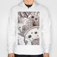 zentangle Hoodies featuring Zentangle by Marisa Toussaint