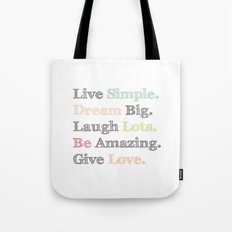 Inspiration Typography Quote Words Pastel  Tote Bag