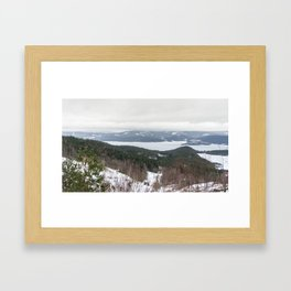 Lakeview in Norway Framed Art Print
