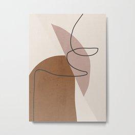 Minimal Abstract Art 6 Metal Print