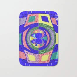 Multi Colour Abstract Bath Mat