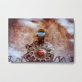 With Full Steam On Metal Print