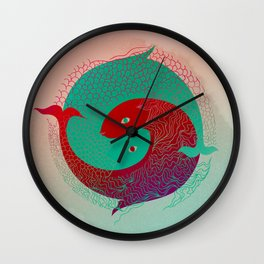 Year of the Fish Wall Clock