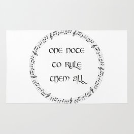 One Note To Rule Them All Rug