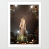 30 rock Art Prints featuring 30 Rock by Andru Valpy