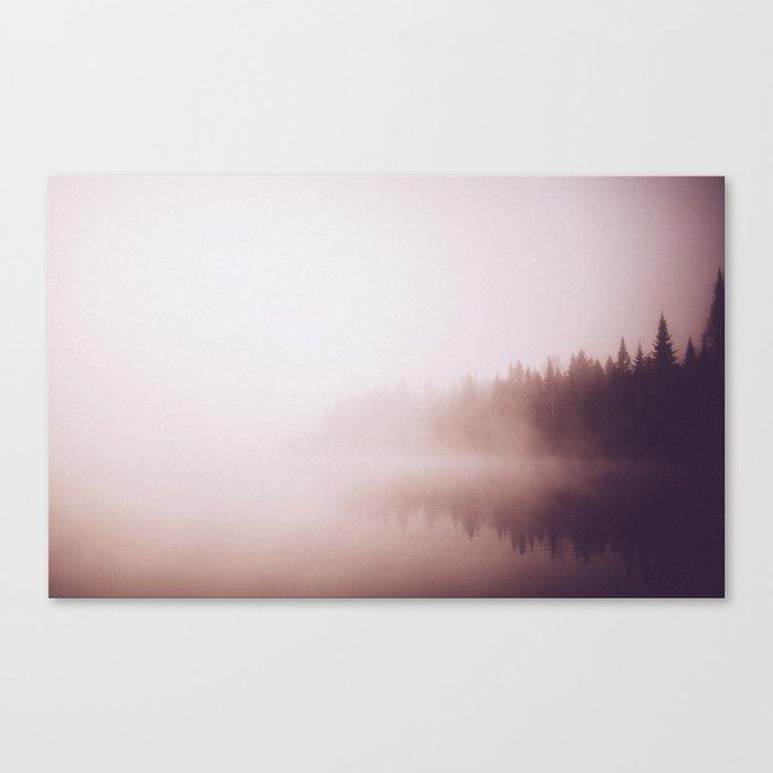 Fog #forest Canvas Print