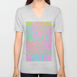 Clouds Mingle with Lines 5 Unisex V-Neck