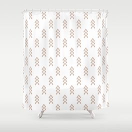 Blush Arrow Shower Curtain