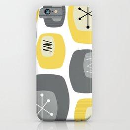 Mid Century Modern Oblongs Yellow Gray iPhone Case
