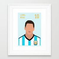 messi Framed Art Prints featuring MESSI by Anthony Morell