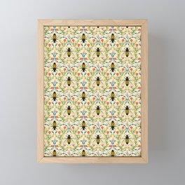 Bee Garden - Cream Framed Mini Art Print