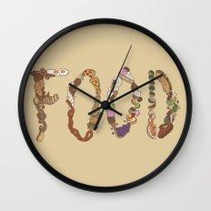 FOOD Wall Clock