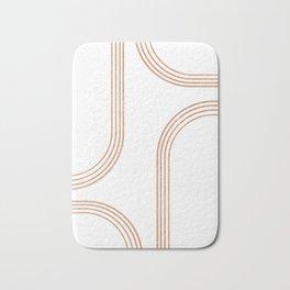 Mid Century Modern 1 - Geometrical Abstract - Minimal Print - Terracotta Abstract - Burnt Sienna Bath Mat