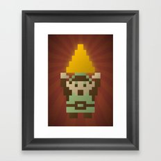 Zelda - Link Triforce Framed Art Print