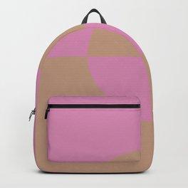 Sandstorm Beige Dark Pink Purple Circle Design 2 2021 Color of the Year Canyon Dusk High Maintenance Backpack