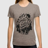 Into The Wild LARGE Womens Fitted Tee Tri-Coffee