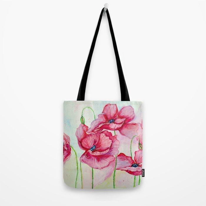 Poppies dance Tote Bag